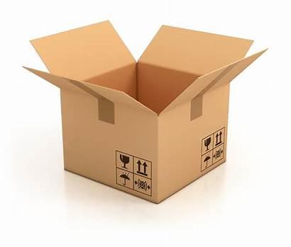 Box Open Empty 3d Cardboard Illustration Move