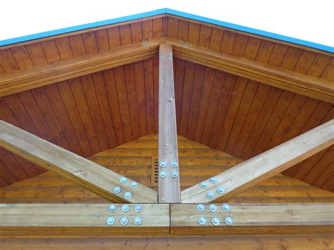 Wooden Roof Support Beams Picture