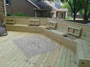 deck plan with built in benches for seating and storage free deck plans wooden decks and deck