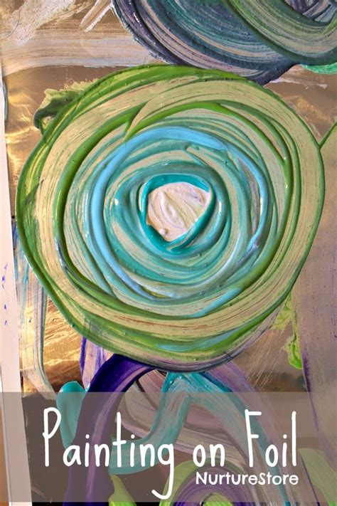 simple art projects for preschoolers simple ideas painting on foil nurturestore 820