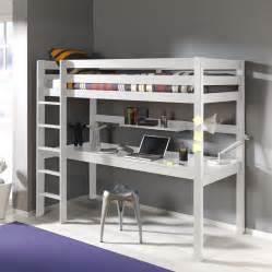 Lit Mezzanine Avec Bureau Intégré Ikea by Lit Mezzanine En Pin Avec Bureau Int 233 Gr 233 Couchage 90 X 200