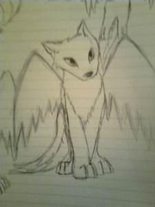 Images For > Cute Wolf Drawings With Wings | wolves ...
