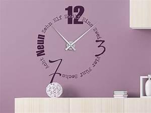 Designer Uhr Wand : wandtattoo uhr worte als designer wanduhr mit zeiger ~ Michelbontemps.com Haus und Dekorationen