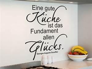 Sprüche Für Die Küche : wandtattoo eine gute k che ist fundament allen gl cks ~ Watch28wear.com Haus und Dekorationen