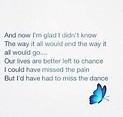 The Dance; Garth Brooks | Last dance lyrics, Lyrics, Jokes ...