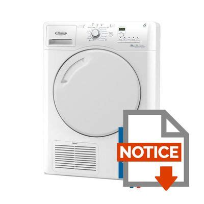 mode d emploi seche linge whirlpool whirlpool azb8670 s 232 che linge 224 condensation achat vente s 232 che linge cdiscount
