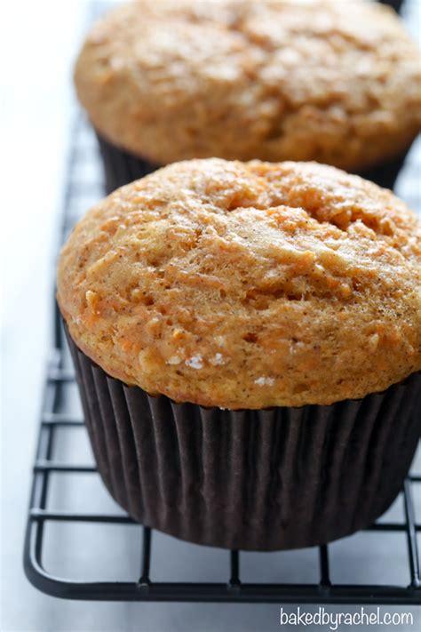 applesauce carrot cake muffins baked  rachel