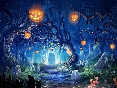 Halloween Backgrounds Wallpapers Anime Resolution Desktop Computer