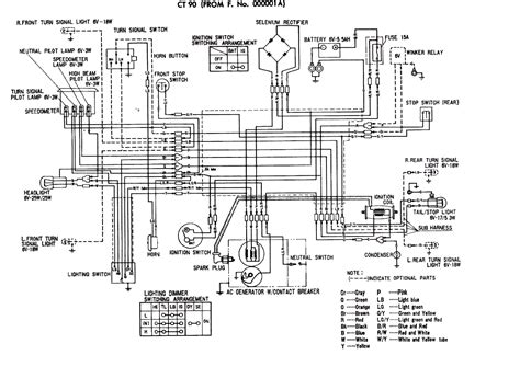 for honda ct200 trail 90 came to me wiring disconnected from battery do you diagram also
