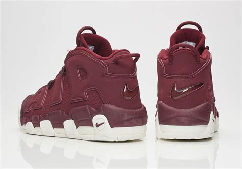 Light Up Air Jordans by Nike Air More Uptempo Bordeaux Dark Maroon Release Date