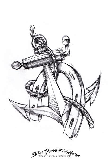 simple anchor tattoos designs