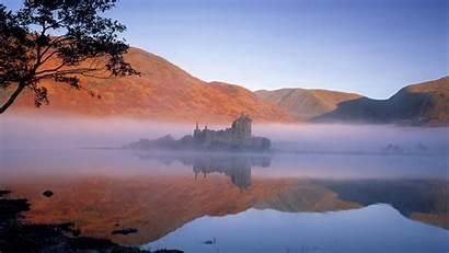 Scotland Christmas Castle Vector Wallpapersafari