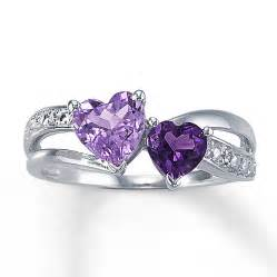 amethyst engagement ring jared amethyst ring shaped sterling silver