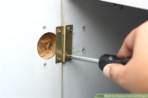 fitting kitchen cabinet hinges 3 ways to replace cabinet hinges wikihow 7215