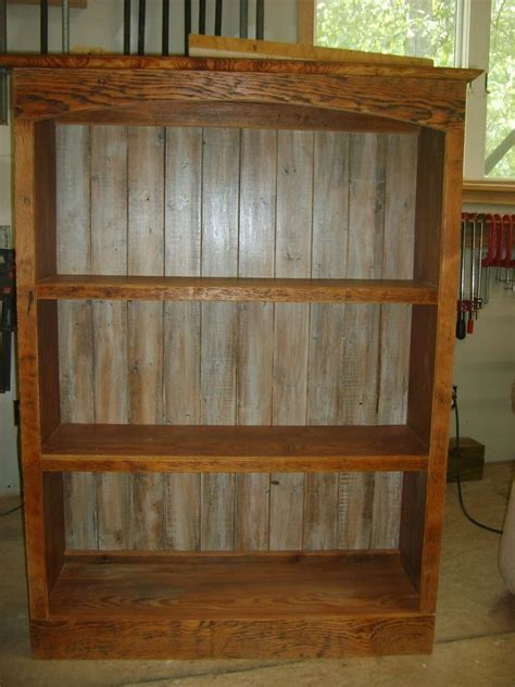 Hand Made Reclaimed Wood Bookcase By Norm's Custom