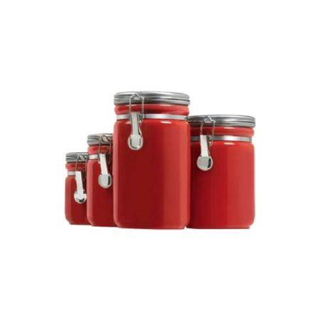Kitchen Canister Sets Walmart by Anchor Ceramic Canister Set 03923red Walmart