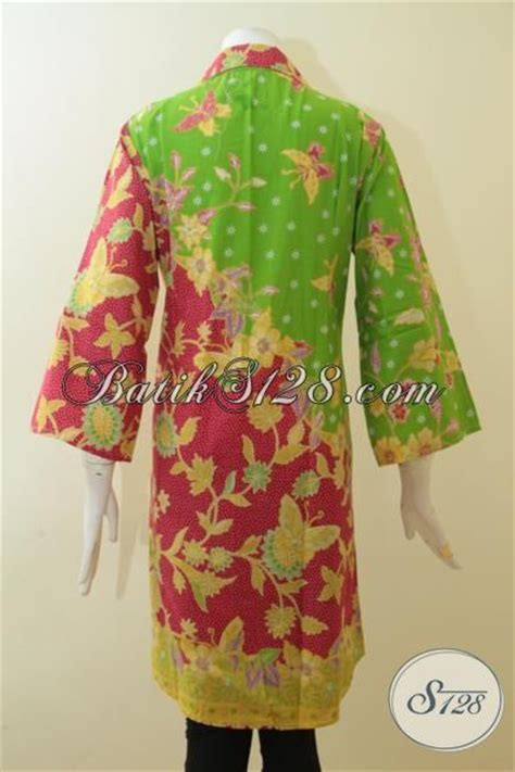 dress batik  trendy    kombinasi warna