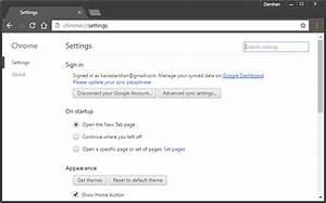 How to open Google Chrome Settings menu in a separate window