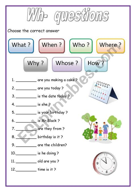 wh questions english for beginners esl worksheet by