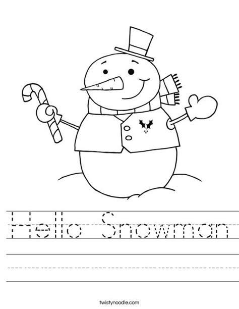 snowman worksheet twisty noodle