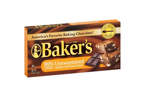 bakers unsweetened chocolate baking squares  oz box