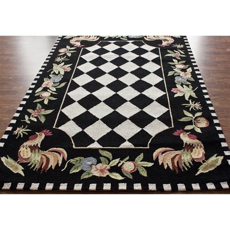 rooster area rugs nuloom rooster black novelty area rug reviews wayfair