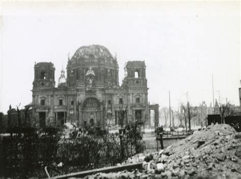 Bomb In Berlin by Bomb Damage To The Berlin Cathedral In Germany In April