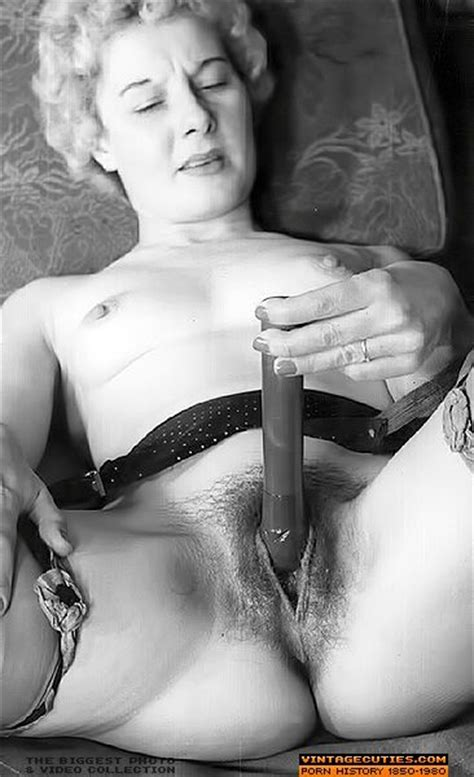Vintage Masturbation With Sex Toy Picture From