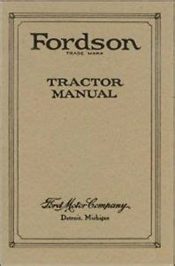 fordson tractor manual reproduction ebay