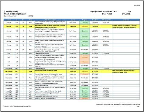 month  close checklist spreadsheetshoppe