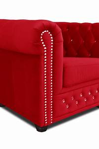 Chesterfield Sessel Stoff : chesterfield sofa 3 2er sitzer sessel in rot stoff b rom bel garnitur couch ebay ~ Markanthonyermac.com Haus und Dekorationen