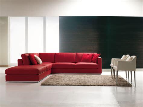 Divano Rosso Angolare : Corner Sofa, In Contemporary Stile, For Living Room