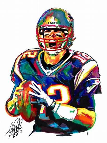 Brady Tom Patriots England Clipart Football Bowl