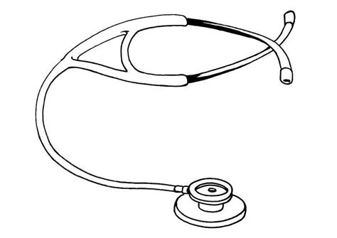 kleurplaat stethoscoop afb