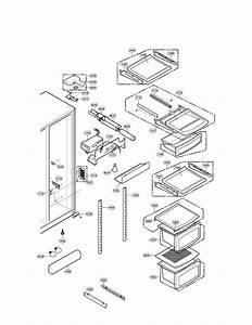 Lg Sxs Refrigerator Refrigerator Door Part Parts