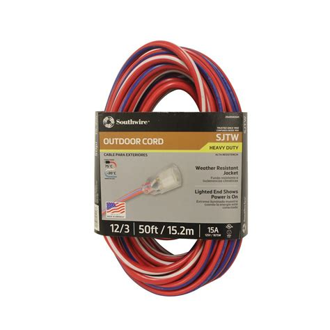 home depot l cord southwire 50 ft 12 3 sjtw usa outdoor heavy duty
