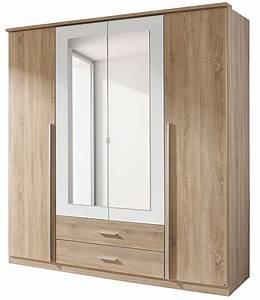 Armoire 4 Portes : armoire 4 portes battantes ch ne de san remo et blanc field ~ Teatrodelosmanantiales.com Idées de Décoration