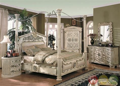 caledonian inspired canopy bedroom set in