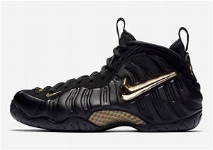 Nike Air Foamposite Pro Black Metallic Gold 624041-009 ...