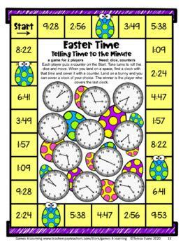 easter math games  grade easter math activities