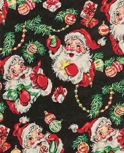 Wrapping Paper Phone Santa Merry Happy
