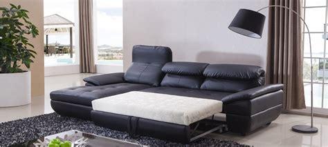 canapé d 39 angle gauche convertible cuir noir mezzio