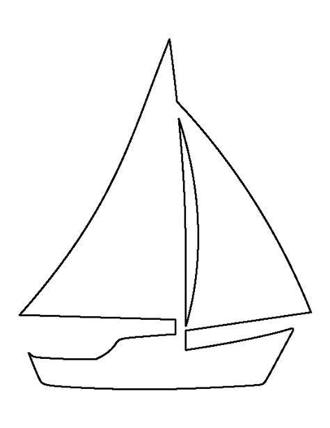 Sailboat Outline Template by Sailboat Pattern Use The Printable Outline For Crafts