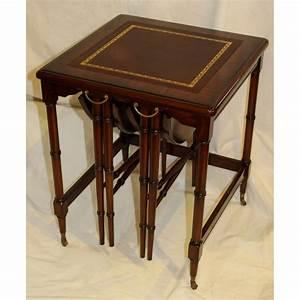 Table Bout De Canapé : table bout de canap gigogne en acajou moinat sa antiquit s d coration ~ Teatrodelosmanantiales.com Idées de Décoration