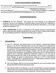 Event management agreement contract event management for Event management agreement template