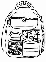 Backpack Coloring Pages Activity Traveller Backpacks sketch template