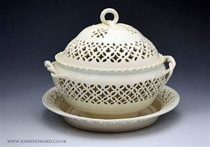 Pottery Antique Leeds Creamware England Decoration Basket