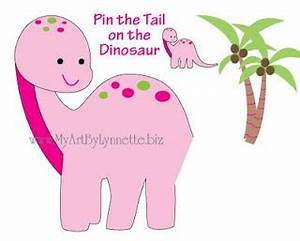lynnetteart dino mite dinosaur birthday invitaitons With pin the tail on the dinosaur template