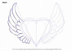 Step by Step How to Draw Heart with Wings ...