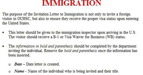 invitation letter template immigration invitation letter